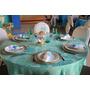 30 Toalha De Mesa Azul Tiffany 3,10mts + 250 Guardanapos