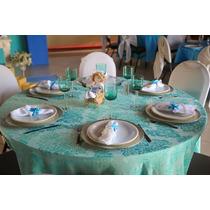 Toalha De Mesa Em Jacquard Para Buffet Festas Kit 15 Toalhas