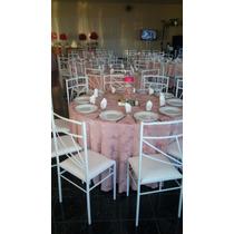 10 Toalha De Mesa Jacquard Redonda 2,80 Mts. Buffet Festas
