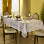 Toalha De Mesa Retangular 10 Lugares Natal Renda Branca Lepp