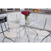 Toalha De Mesa Cristal 1,40m X 1,40m 04 Cadeiras Tutti Casa