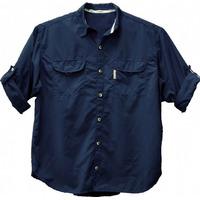 Camisa D Pesca Ballyhoo Crisis Cor Azul Filtro Uv Tamanho Gg