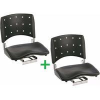 Kit 2 Cadeiras Barco Giratória Dobrável Assento Almofadado