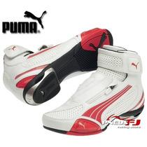 Bota Cano Curto Puma Testastretta Ii - Branco/vermelho