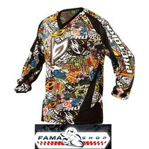 Camisa Pro Tork Modelo Sticker Bomb Cross Trilha Enduro