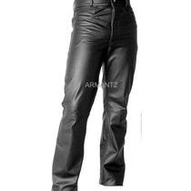 Calça De Couro Tradicional Augustus Couros Igual Jeans Moto