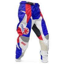 Calça Motocross Importada Fast Brothers Azul Vermelho Branca