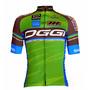 Camisa De Ciclismo Oggi Team(tam: M, G Ou Gg) Verde/marrom.