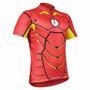 Camiseta Ciclista Homem De Ferro Com Refletivo Proteção 50uv