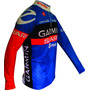 Camisa Ciclismo Garmin Azul M/longa