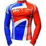 Camisa Ciclismo Manga Longa Ert Sky G.britain (p-m-g-gg-3g)