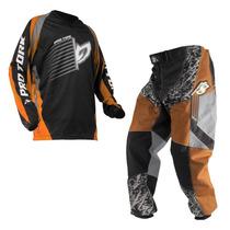 Kit Camisa E Calça Moto Cross Infantil Tamanho M