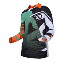 Camisa Asw Podium Reborn 2016 - Preta - Trilha - Motocross