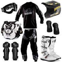 Kit Motocross Trilha Pro Tork 8 Itens + Brinde