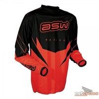Camisa Asw Factory Vermelho Trilha Motocross Enduro Tam M