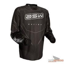 Camisa Asw Factory Preto Trilha Motocross Enduro Tam G