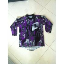 Camisa Infantil Motocross Carbon