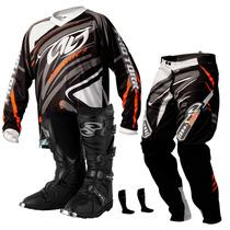 Kit Bota Combat 3 Camisa Calça Insane 3 Motocross Pro Tork