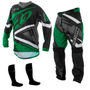 Kit Calça Camisa Infantil Insane 4 Verde Motocross Tork