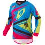 Camisa Insane 4 Azul Pink Rosa Motocross Pro Tork + Brinde