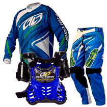 Kit Motocross Pro Tork Infantil Insane 3 Azul Kids
