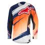 Camisa Alpinestars Techstar Venom 16 Laranja/branco Gg Rs1