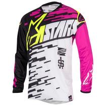 Camisa Alpinestars Racer Braap 16 Branco/rosa M(m) Rs1