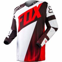 Camisa Motocross Fox 180 Vandal Vermelha / Branca Off Road