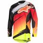 Camisa Alpinestars Techstar Venom 2016 - Verm/amar Fluor/pre