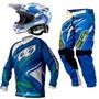 Kit Insane 3 + Capacete Squad Óculos 788 Trilha Motocross