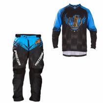 Kit Calça E Camisa Pro Tork Insane 5 Motocross Piloto Trilha