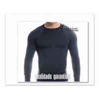 Camisa Térmica Segunda Pele Elástica Esportiva, Protege Frio