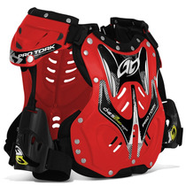 Colete Proteçao Protork 788 Trilha Motocross Enduro Vermelho