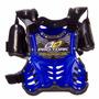 Colete Infantil Proteção Protork Motocross Azul + Brinde
