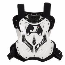 Colete De Proteção Jett Lite Branco Motocross + Brinde