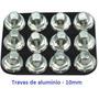 Trava De Alumínio P/ Chuteira Campo - 12 Unidades + Chave