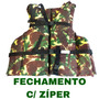 Pesca - Colete Salva Vidas Camuflado C/ Zíper - 100kg