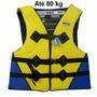 Colete Salva Vidas Flutuador Ate 80kg Unisex Piscina E Pesca