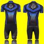 Conjunto Ciclismo Fox Camisa 3 Bolsos Bermuda Acolchoada