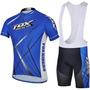 Uniforme Ciclismo Fox (camisa+bretellle)