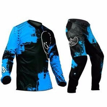 Conjunto Kit Calça + Camisa Ims Action Azul 46/g Motocross