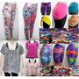 Kit Revenda 2 - Moda Feminina Fitness 12 Peças Bermuda Blusa