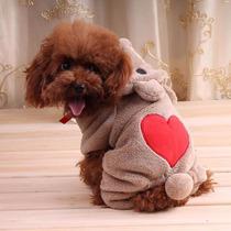 Roupa Fantasia De Ursinho Para Cães Gatos Inverno Tamanho M