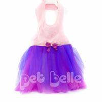 Vestido Bailarina Rosa E Roxo Para Cachorro