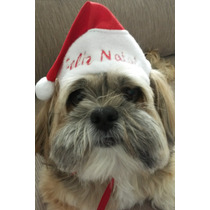 Touca De Papai Noel Para Cães