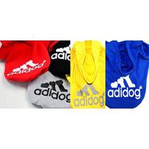 Roupa Casaco Moletom Para Cães Cachorro Adidog T-shirtm