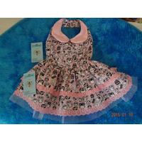 Vestido Pra Cachorro Coruja Rosa Chique