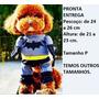 Roupa Fantasia Cachorro Gato Batman Tamanho P