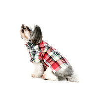 Camisa Xadrez Para Cachorro | Cor: Vermelho | Tamanho 00