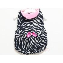 Roupa Para Cachorro Cão Vestido Fêmea Zebra